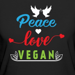 Peace Love Vegan T-Shirts - Frauen Bio-T-Shirt