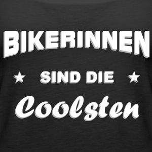 Bikerin cool Tops - Frauen Premium Tank Top