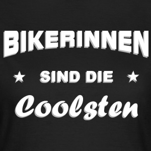 Bikerin cool T-Shirts - Frauen T-Shirt