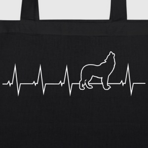Wolf - heartbeat Bags & Backpacks - EarthPositive Tote Bag
