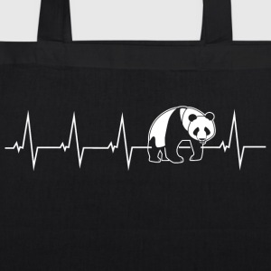Panda - heartbeat Bags & Backpacks - EarthPositive Tote Bag