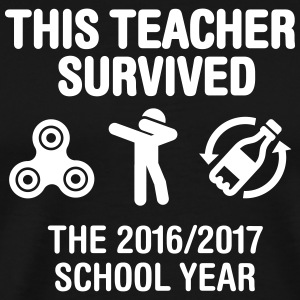This teacher survived school year 20116 - 2017 Camisetas - Camiseta premium hombre