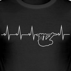 Sloth - heartbeat T-Shirts - Men's Slim Fit T-Shirt