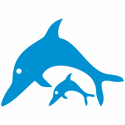 Delfin Mama Kind