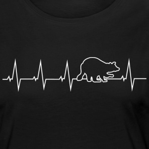 Raccoon - heartbeat Long Sleeve Shirts - Women's Premium Longsleeve Shirt