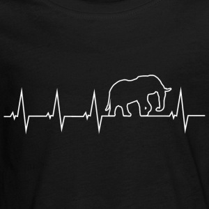 Elephant - heartbeat Long Sleeve Shirts - Teenagers' Premium Longsleeve Shirt