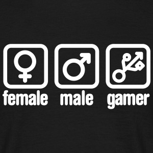 Female - Male - Gamer (USB) T-shirts - T-shirt herr