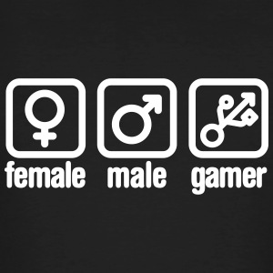 Female - Male - Gamer (USB) T-Shirts - Männer Bio-T-Shirt