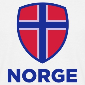 Hvit Norway Emblem Big 2 (3c, NEU) T-skjorter - T-skjorte for menn