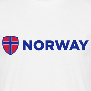 Vit Norway Emblem Side 1 (3c, NEU) T-shirts - T-shirt herr