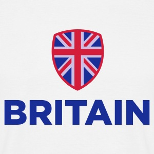 Wit Britain Emblem Small 1 (3c, NEU) T-shirts - Mannen T-shirt