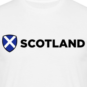 White Scotland Emblem Side (3c, NEU) Men's T-Shirts - Men's T-Shirt