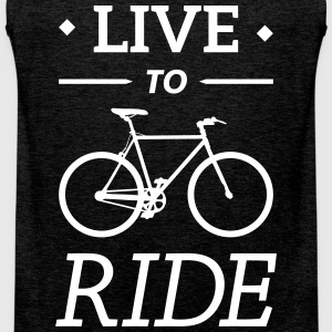live to ride fixie cycling bicycle sport saying Sports wear - Men's Premium Tank Top