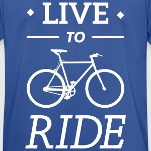 live to ride fixie cycling bicycle sport saying T-Shirts - Men's Breathable T-Shirt