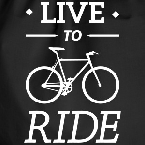 live to ride fixie cycling bicycle sport saying Bags & Backpacks - Drawstring Bag