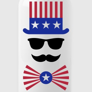 American Moustache (Hipster / Moustached / Beard) Mugs & Drinkware - Water Bottle