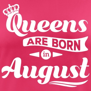 Queens are born in august birthday Crown casting T-Shirts - Women's Breathable T-Shirt