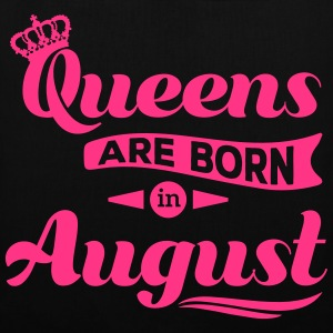 Queens are born in august birthday Crown casting Bags & Backpacks - Tote Bag