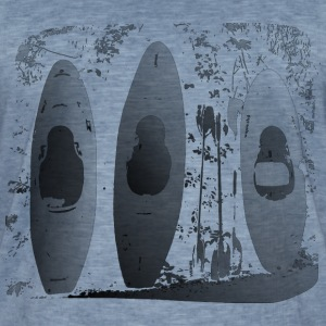 Kayak's at the Wall - Männer Vintage T-Shirt