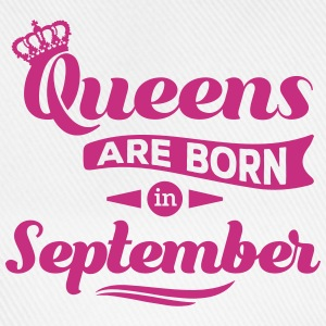 Queens are born in september Geburtstag Krone Caps & Mützen - Baseballkappe