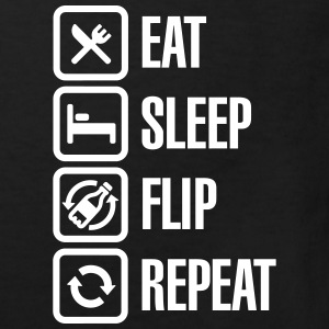 Eat - Sleep - Bottle Flip - Repeat Skjorter - Økologisk T-skjorte for barn