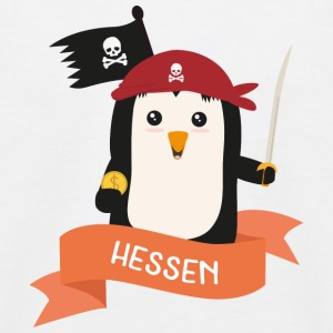 Pinguin Pirat aus HESSEN Se03ez T-Shirts - Kinder Baseball T-Shirt