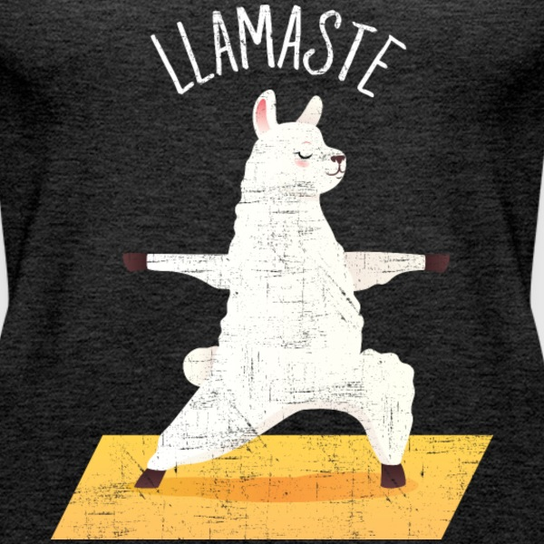 Llamaste | Yoga Llama Design Tops - Frauen Premium Tank Top