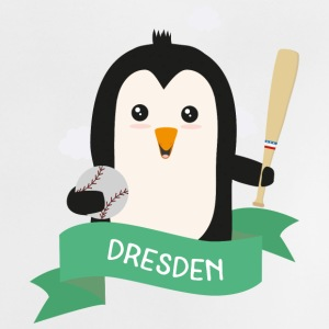 Baseball Pinguin aus DRESDEN Skeven Baby T-Shirts - Baby T-Shirt
