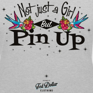 Not Just a Girl but Pin Up - T-shirt col V Femme