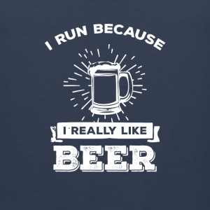 I run because i really like Beer Sports wear - Men's Premium Tank Top