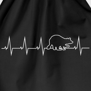 Raccoon - heartbeat Bags & Backpacks - Drawstring Bag