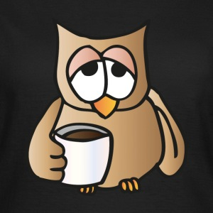 Owl with coffee T-Shirts - Women's T-Shirt