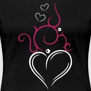 Tribal Tattoo Ornament with big heart. - Women's Premium T-Shirt