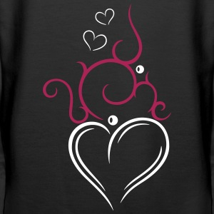 Tribal Tattoo Ornament with big heart. - Women's Premium Hoodie