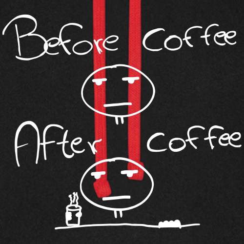 Befor and After - Morgenmuffel Kaffee Funshirt