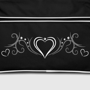 Tribal Tattoo Ornament with big heart. - Retro Bag