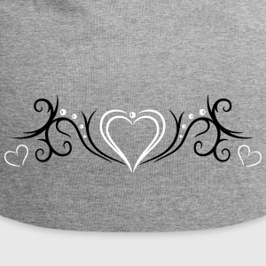Tribal Tattoo Ornament with big heart. - Jersey Beanie