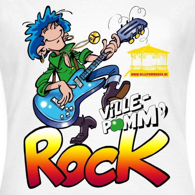 T-shirt Blanc Ville-Pomm'Rock 2017 Femme