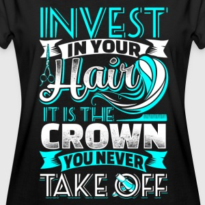 Invest in your Hair  - Hair Stylist - EN Tee shirts - T-shirt oversize Femme