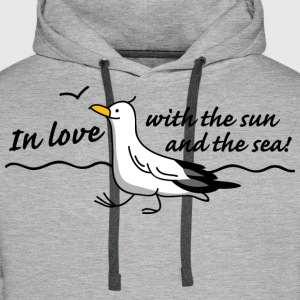 In love (b) Sweat-shirts - Sweat-shirt à capuche Premium pour hommes