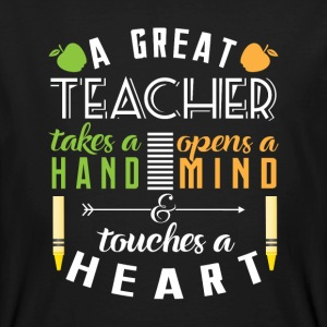 A great teacher touches heart T-Shirts - Männer Bio-T-Shirt