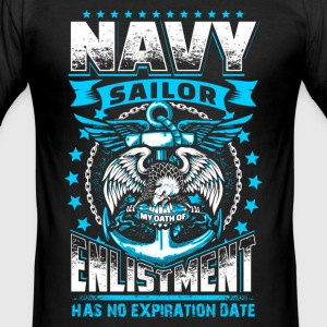 Navy Oath - EN T-shirts - Herre Slim Fit T-Shirt