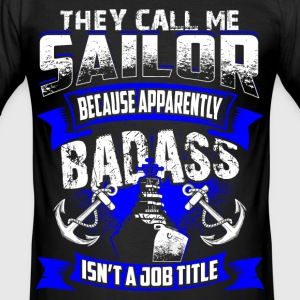 Badass Sailor - EN T-shirts - Slim Fit T-shirt herr