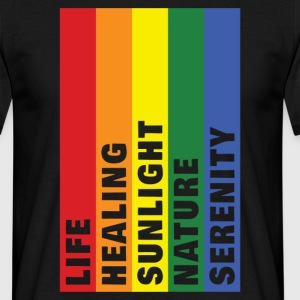 Life Healing Sunlight Nature Serenity T-Shirts - Men's T-Shirt