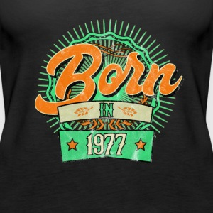 Born in 1977 washed worn Tops - Frauen Premium Tank Top