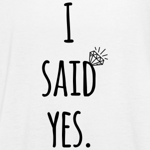 Hen Party: I said yes - Bride Shirt Toppe - Dame tanktop fra Bella