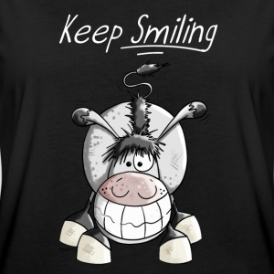 Keep Smiling Esel T-Shirts - Frauen Oversize T-Shirt