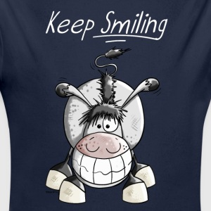 Keep Smiling Esel Baby Bodys - Baby Bio-Langarm-Body