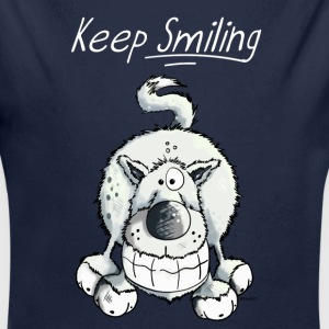 Keep Smiling Wolf Baby Bodys - Baby Bio-Langarm-Body