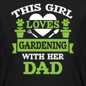 Girl loves gardening with dad T-Shirts - Männer Bio-T-Shirt